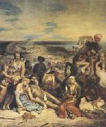 Scenes of the Massacres of Scio;Greek Families Awaiting Death or Slavery (mk05)